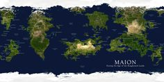 realistic_map_of_maion__sejon_by_mapclub. Fantasy World Map, Fantasy Places, Planet Map, Map Creator, Imaginary Maps, Rpg Map, Word Map, Character And Setting, City Landscape