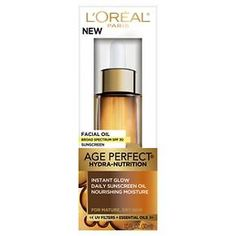 L'Oréal® Paris Age Perfect® Hydra-Nutrition Facial Oil with SPF 30 - 1 fl oz : Target