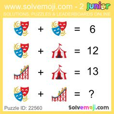 Solvemoji - Free teaching resources - Emoji math puzzle, great as a primary math starter, or to give your brain an emoji game workout. Funny Puzzles, Maths Puzzles, Emoji Games, Math Games, Activity Centers, Math Centers, Maths Starters, Xmas Theme, Order Of Operations