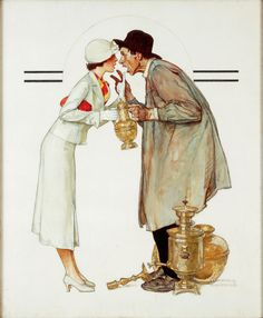 Norman Rockwell Brass Merchant (Mercante di ottoni), 1934 Olio su tela, 86 x 71 cm Cover illustration for The Saturday Evening Post, May 19, 1934