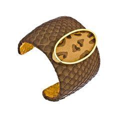 Ted Rossi Leopard Espresso Python Cuff