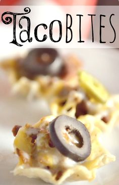 Taco Bites--full taco flavor in a handy little bite-sized package.  Perfect for kids who have trouble managing regular taco shells.  Makes a great appetizer too!
