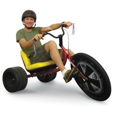 The Drifting Adult Trike. This is the low-riding, big-wheeled tricycle that evokes childlike a...
