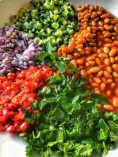 Baked beans salad Braai Recipes, My Recipes, Salad Recipes, Baked Beans Salad, Bread Soup, Keep It Simple, Chana Masala, Fragrances, Bouquets