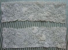 Yet another nice lace from the 4/6/2014 Ebay Alerts. Point de Gaze cuffs.