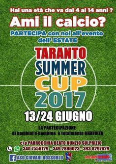 Taranto Summer Cup 2017, il grande torneo gratuito dei Giovani Rossoblu