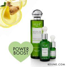 Power boost! #Keune #Keunehaircosmetics #SoPure #Energizing #Hair