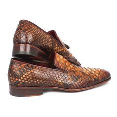 65469e752 Handmade Exoticskin Tassel Loafers Camel color genuine python (snakeskin)  upper Hand finished leather sole
