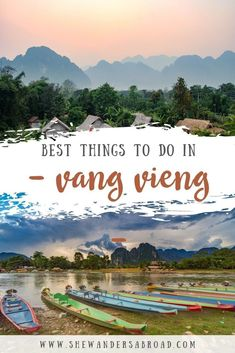 Read this Vang Vieng Travel Guide to find all the best things to do in Vang Vieng including tips about where to stay and how to get there. Free map included! #laos #vangvieng #southeastasia #travelguide | Top things to do in Vang Vieng | What to do in Vang Vieng | Blue Lagoon Vang Vieng | Tubing Vang Vieng | Nam Xay Viewpoint in Vang Vieng | Best places to visit in Laos | Laos Bucket List | Where to stay in Vang Vieng | How to get to Vang Vieng | Best time to visit Vang Vieng