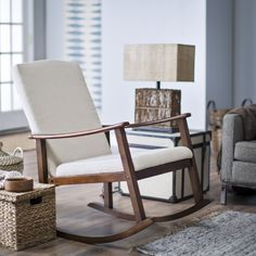 Belham Living Holden Modern Rocking Chair   Upholstered   Ivory   Indoor Rocking  Chairs At Hayneedle