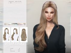 The Sims 2, Sims Four, Sims Cc, Sims 4 Mods Clothes, Sims 4 Clothing, Sims 4 Cas Mods, The Sims 4 Cabelos, Pelo Sims, Sims 4 Dresses