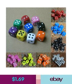 $1.72 - 10Pcs Acrylic Six Sides Spot Dot D6 Playing Game Color Dices Bar Pub Toy Small U #ebay #Fashion Dice Games, Games To Play, Playing Games, Digital Dice, Six Sides, Portable Table, Outdoor Tools, Table Games, Family Games