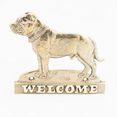 Staffordshire Bull Terrier dog welcome hanging by ArtDogshopcenter