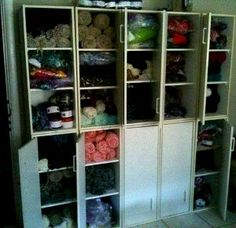 Let's get that yarn stash #organized!  This article features 21 great tips for storing yarn and #knitting supplies.