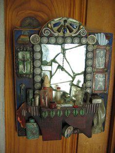 Bathroom mosaic mirror by Pandorea..., via Flickr