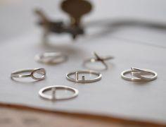 Ring typographic zilver | twinklebird
