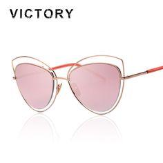 Vintage 50S Cat Eye New 2016 Sunglasses Fashion Brand Hollow Designer Elegant Lady Cateye Sun glasses Retro Party High Quality