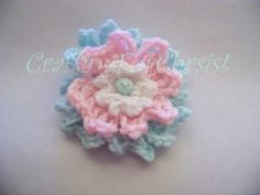 Ravelry: B's 3 Tiered Cute as a Button Flower pattern by Crafting ForChrist Designs