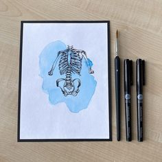 """Jenny ✏️ on Instagram: """"lil dot-work skeletal sketch + a lil splash of watercolour 🧊⚫️ - Prints will be available with my official ETSY shop launch soon!! 18/08/20…"""" Watercolour, Sketch, Dots, Product Launch, Etsy Shop, Illustration, Pretty, Instagram, Pen And Wash"""