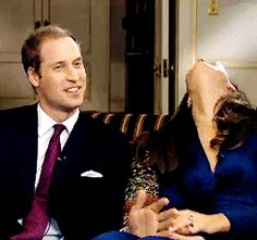 Prince William and Kate Middleton after finishing their engagement interview. Prince William Family, Prince William And Catherine, William Kate, Princess Kate Middleton, Kate Middleton Style, Duke And Duchess, Duchess Of Cambridge, Principe William Y Kate, Herzogin Von Cambridge