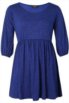 Blue+And+Black+Daisy+Print+Jersey+Tunic+48825