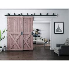 Barn Door Hardware | Double barn door hardware - Rustic Rolling Doors