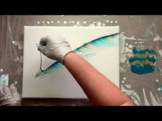 Feather String Pull Paint Pour - Hobbies paining body for kids and adult Acrylic Painting Techniques, Acrylic Painting Canvas, Acrylic Art, Canvas Art, Feather Painting, Feather Art, Acrylic Pouring Art, Feather Crafts, Pour Painting