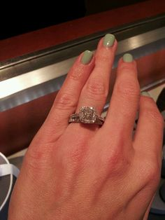 """""""been married 12 years but hubby got me a new Vera Wang ring I'm in love!"""""""