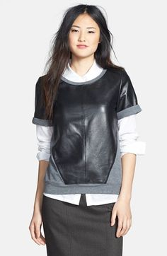 Such a great leather TOP @nordstrom #nsale