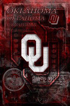 Oklahoma Poster, University of Oklahoma Gift, OU Man Cave, Sooners Pri – McQDesign Oklahoma Sooners Football, Ou Football, College Football, Denver Broncos, University Of Oklahoma, Oklahoma City, Football Man Cave, Bronco Sports, Boomer Sooner