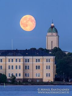 Moonrise above Suomenlinna yesterday Photographed from Kaivopuisto, Helsinki, Finland (14.7.2014 at 22:59)