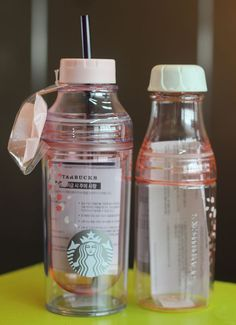 Korea Starbucks 2016 Cherry blossom Lena Cold Cup, Pink Sunny Water Bottle SET #Starbucks