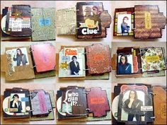 punk projects: Recycled Clue Game Mini Album DIY
