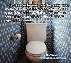 Plusieurs fois par semaine, il faut nettoyer ses toilettes et les désinfecter. Mais l'eau de Javel est dangereuse pour votre santé. Surtout si vous vous en mettez sur les mains ou si vous en respirez les émanations... Et je ne vous parle même pas des conséquences sur l'environnement. Vous cherchez comment désinfecter vos toilettes naturellement ? Heureusement, il existe une astuce naturelle pour désinfecter les toilettes en remplaçant la jav