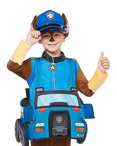 $19.99 CAR ONLY Toddler Chase Ridealong Costume - Paw Patrol - Spirithalloween.com