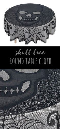 A really awesome table cloth perfect for a Halloween party. Or year round. ^_^ #skulltablecloth #halloweentablecloth #halloweendecor #afflink