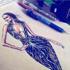 "3,251 Likes, 41 Comments - Fashion Illustrator (@zoljargal_e) on Instagram: ""#throwback De La Renta '10 #whitenights #watercolor set 🌸🌹 #mixedmedia illustration…"""