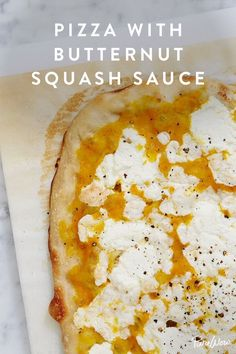 Pizza with Butternut Squash Sauce.