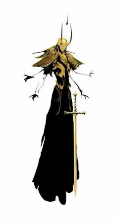 Medium Ascended Gold Cultist - - - Della U. Character Creation, Character Concept, Character Art, Concept Art, Fantasy Inspiration, Character Design Inspiration, Dark Fantasy, Fantasy Art, Monster Design