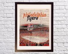Philadelphia Flyers Dictionary Art Print Philadelphia Flyers Logo, Philadelphia Sports, Wells Fargo Center, Fly Guy, Flyer Printing, Dictionary Art, Orange Crush, Display, Hockey