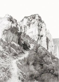 "carlos castillo seas - ""el camino de otín"". lápiz y polvo de grafito sobre papel (pencil and graphite powder on paper)"