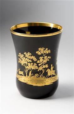 Goblet with deer hunting motif