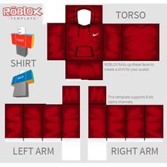 07f32460762ac6 roblox shirt template nike shirt template - ROBLOX  sampleResume   FreeResume Red Nike Hoodie