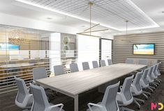 Mindful Design Consulting Creates Visually Stimulating Office Design for Wealth Management Firm - Mindful Design Consulting Office Interior Design, Office Interiors, Investment Firms, Wealth Management, Cubicle, Mindful, Table, Room, Furniture