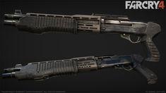 Far Cry 4 : SPAS12, Greg Rassam on ArtStation at http://www.artstation.com/artwork/far-cry-4-spas12