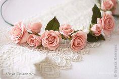 цветочные украшения из глины и фоамирана