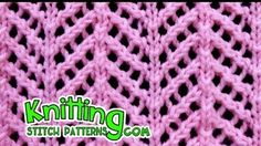Find out how to knit the Arrowhead Lace sew. It took a bit for me to memorize the sew sample, Lace Knitting Stitches, Lace Knitting Patterns, Arm Knitting, Lace Patterns, Stitch Patterns, Knitted Shawls, Knitted Blankets, Knitting Videos, Youtube