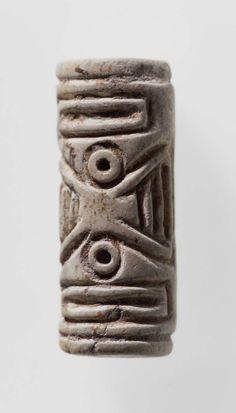 Cylinder seal      Near Eastern, Mesopotamian, Sumerian, Jemdet Nasr, 3100–2900 B.C.