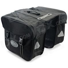 YANHO YA029 600D Oxford Fabric Cycling Bike Back Seat Rack Bag - Black