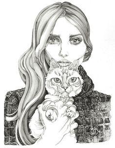 Ilustración de la portada Lovely the Mag 6 por Carmen García Huerta http://stylelovely.com/lovely-the-mag/carmen-garcia-huerta/